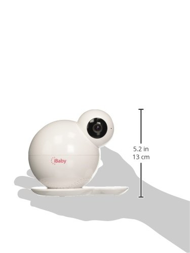 iBaby M6T HD Wi-Fi Digital Baby Video Camera Monitor with Temperature and Humidity Sensors, White