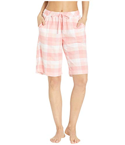 Karen Neuburger Women's Pajamas Cropped Pj Bermuda Short, Buffalo Plaid Peach, Small ()