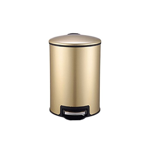 WXL Trash Can 5L Stainless Steel Pedal Trash Can Multicolor