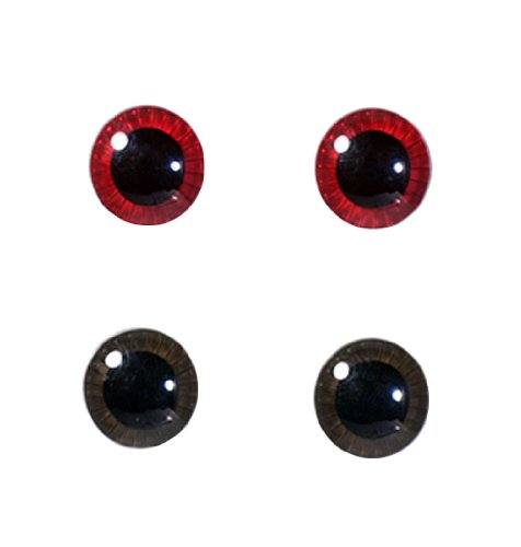 Halloween Contact Lenses - Eye Chip Selection for Pullip series Face & Body Set (Dark Red & Ash Brown) by Groove