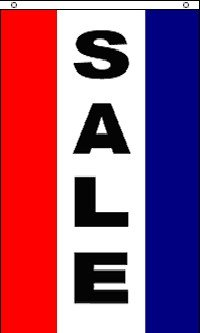 Sale Vertical Poylester Banner Flag Sign (Cheap Banner)