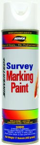 Aervoe Paint Marking (Aervoe 207 White Survey Marking Paint - 20-oz Cans (17-oz net weight) - 12 Can Case)
