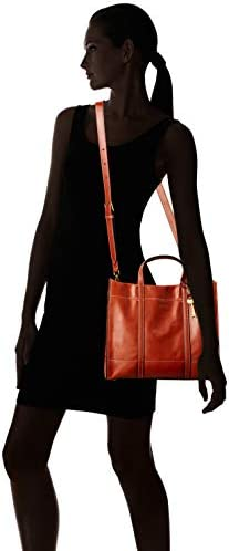 Fossil Women's Carmen Leather Shopper Tote Purse Handbag