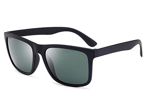 Negro conducir De Sol UV400 Años Retro Clásico Gafas para gafas verde de Polarizado Unisexo sol 80 SwCqRW6