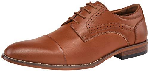 VOSTEY Mens Oxfords Cap Toe Brogue Formal Dress Shoes