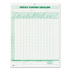 - Weekly Expense Envelope, 8 1/2 x 11, 20 Forms