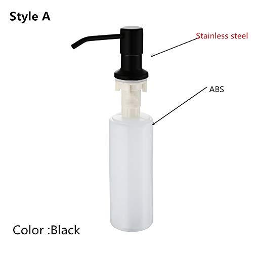 Black Stainless steel Liquid Soap Dispensers Kitchen Sink Hand Soap Dispenser Plastic Bottle Easy To Fill Kitchen Accessorie