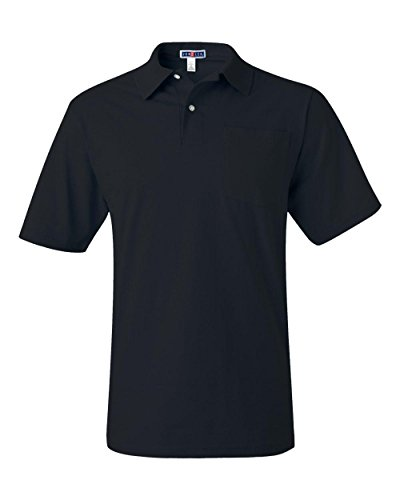 jerzees-mens-56-oz-50-50-jersey-pocket-polo-with-spotshield436p-black-xl