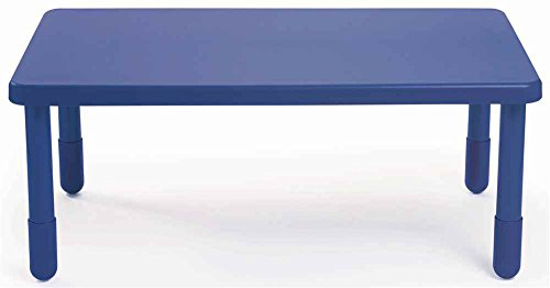 Rectangular Table in Royal Blue (16 in. Height) by Angeles