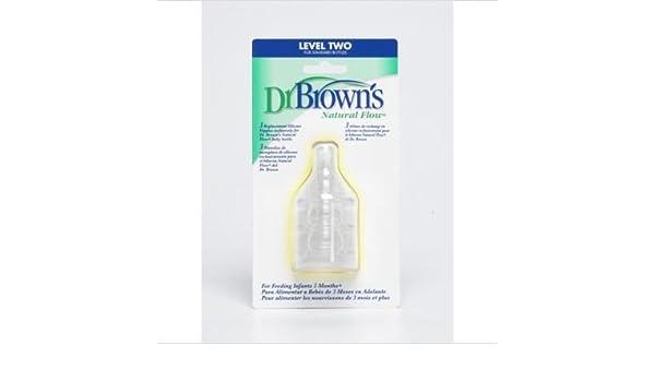 Dr. Brown Tetina Standard Nivel 2 3+ Meses 3 Ud: Amazon.es: Bebé