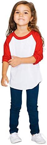 American Apparel Unisex-Child 50/50 3/4 Sleeve Raglan
