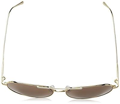 Calvin Klein Unisex Ck2155s Aviator Sunglasses, Gold, 57 mm
