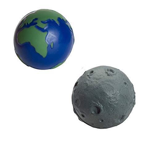 (GL Toys Earth and Moon Stress Toy Set (Set of 2 Stress Balls))