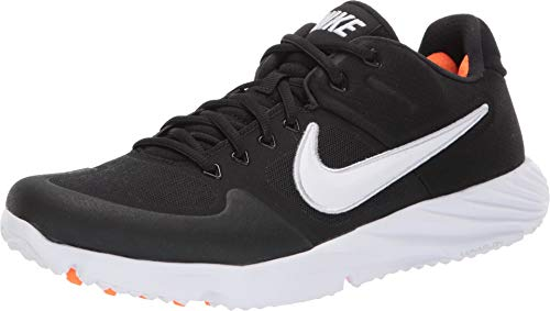 Nike Men's Alpha Huarache Elite 2 Turf Baseball Cleats (12, Black/White)