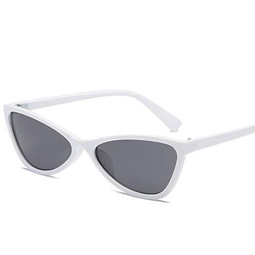 Cat's Eye Fashion sunglass Hip-Hop Cross-Country Sunglasses Metal Hinge Triangle,WHITE ()