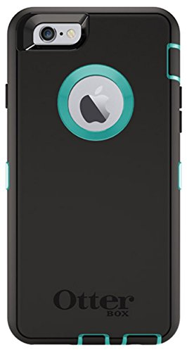 Otterbox Defender Series Case for Apple iPhone 6 with Built-in Screen Protector & Holster (Black-Teal)