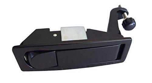 - CPW (tm) Peterbilt 386 387 Black Powder Coated PUSH BUTTON Latch Lock Kit for Tool Box - C233213