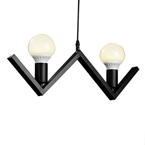 JJL Iron Hill 2-Light Indoor Convertible Chandelier/Semi-Flush Ceiling Fixture, Oil Rubbed Bronze Finish with Highlights and Metal -