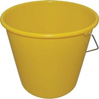 Jantex CD805 Round Plastic Buckets, Capacity: 10 L, Yellow Nisbets
