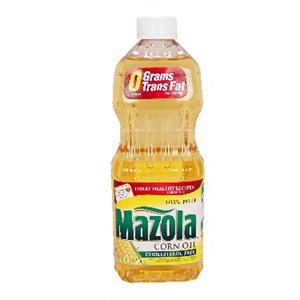 Mazola 100% Pure Corn Oil 16 oz (Pack of 12)