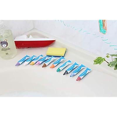 Kitpas Art Crayon for Bath 10 Colors with Sponge: Toys & Games