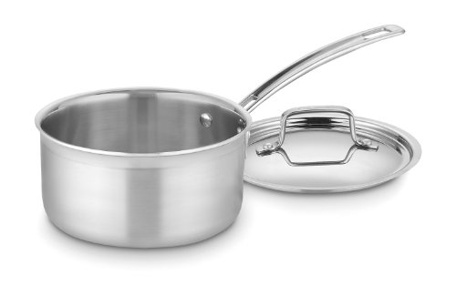 Cuisinart MCP19-18N MultiClad Pro Stainless Steel 2-Quart Saucepan with Cover (Chefs Stainless Steel Sauce Pan)