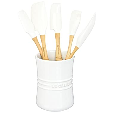 Le Creuset Revolution 6-Piece Silicone Kitchen Set, White