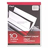 Carbon Paper Tablet, 8-1/2''x11'', Black Carbon, Sold as 1 Each