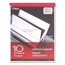 Carbon Paper Tablet, 8-1/2''x11'', Black Carbon, Sold as 1 Each