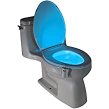 LightBowl Toilet LED Nightlight By Wally's, Motion Activated, Fits ANY Toilet, 8 Colors in One Light.