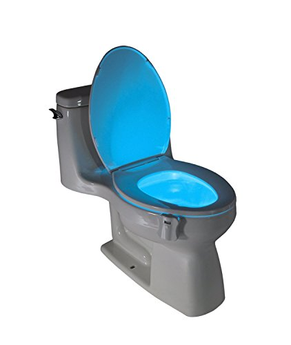 LightBowl Toilet LED Nightlight by Wallys, Motion Activated, Fits Any Toilet, 8 Colors in One Light.