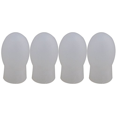Yibuy 0.8x0.6inch White Rubber Drumstick Practice Silent Tips Pack of 4 (Drumsticks Rubber)