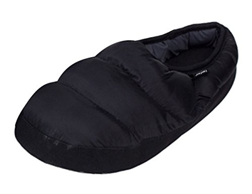 Down House Boots 2 Antiskid Waterproof On Lightweight Shoes Mens Slippers Warm Quilted Indoor Comfort Cozy Slip Womens Home Ankle Slippers Mules Soft Footwear Black Winter xzw6qzXU