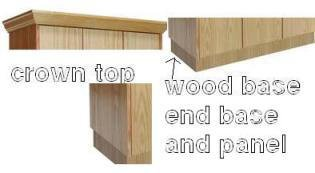 Hallowell (List Industries), Wood Bases For Club Lockers, Wcb128W, Description: Wood Base For 12 In Wide Single Column Unit, ()
