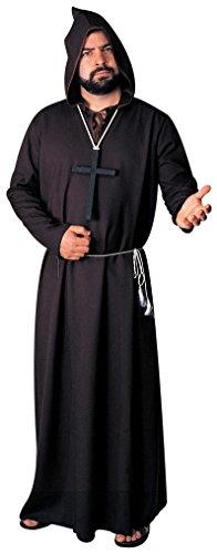 [Rubie's Costume Co Men's Monk Ghoul Costume Robe, Black, Standard] (Biblical Themed Costumes)