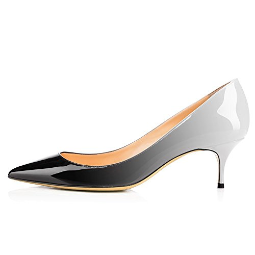 Kitten Heel Dress Pumps Wedding Gradient Fashion UMEXI Heel Pointed Low for Toe Women Grey Lady's qw74H8I7