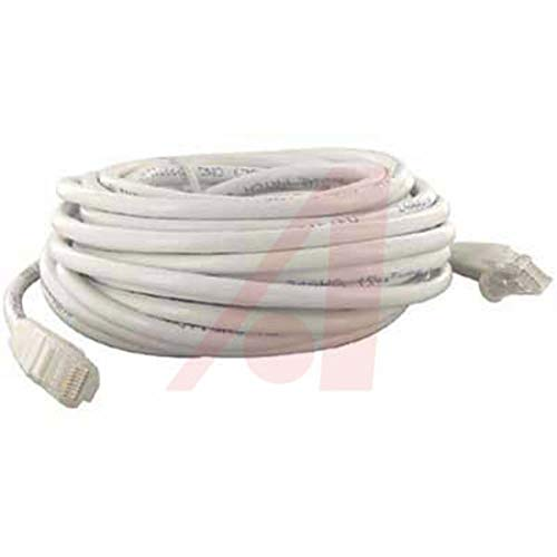 (50 FT CAT-5E White SNAGLESS/Molded Patch Cord, Pack of 2)