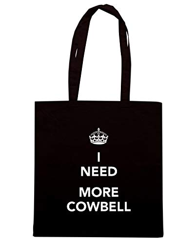 CALM I Shopper NEED MORE Borsa KEEP COWBELL Nera TKC0060 AND OpwFIfT