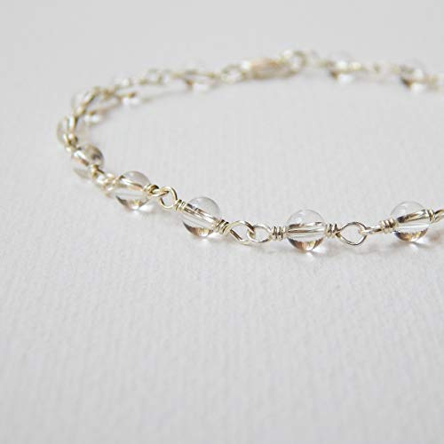 (Crystal Quartz Bracelet in Sterling Silver)