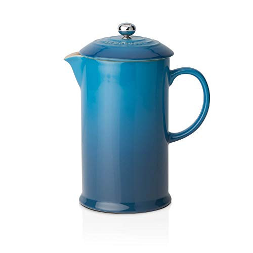 Le Creuset Dishwasher Safe Grill - Le Creuset Stoneware Cafetiere with Metal Press, 750 ml - Marseille Blue