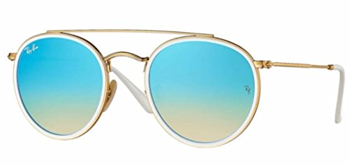 Double Gradient Gold Mirror (Ray-Ban RB3647N 001/4O 51M Gold/Blue Brown Mirror Gradient)