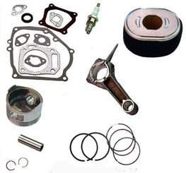 Honda GX390 13HP ENGINE OVERHAUL KIT PISTON RINGS CLIPS AIR FILTER GASKET SET