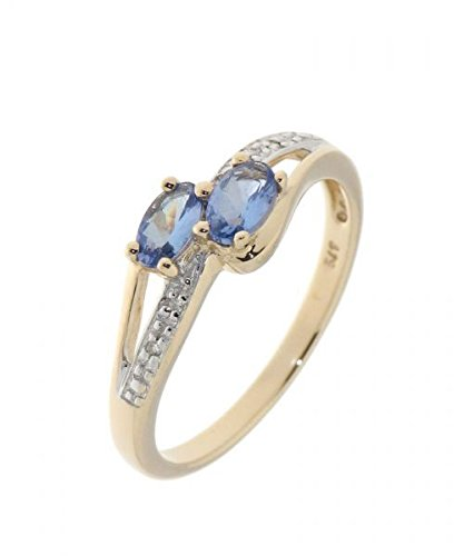 Bague Or 375 Tanzanite ref 34870