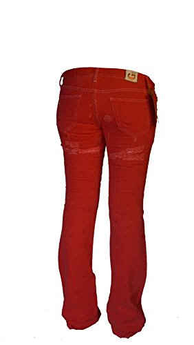 GUESS Damen Jeans Hose rot used style