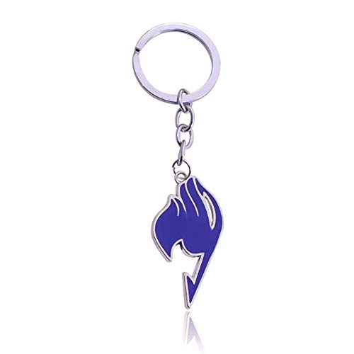 Raleighsee Fairy Tail Anime Cute Logo Pendant Alloy Keychain Collectible Key Ring Novelty Bag Accessory Anime Fans Gift( BL)