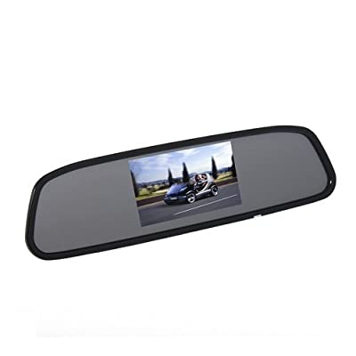 5 Inch TFT LCD Car Color Rear View Mirror Monitor for Parking Backup Camera DVD VCR