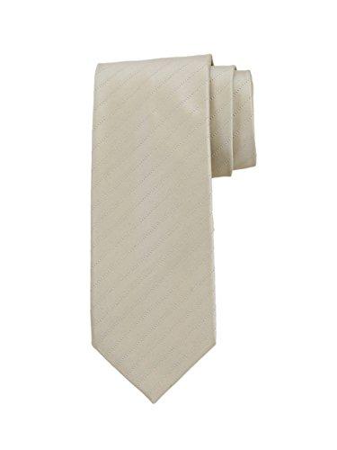 (Robert Jensen Finest Silk Handmade Men's Neck Tie - Mogador - Satin with Tick Stripe (Gold))