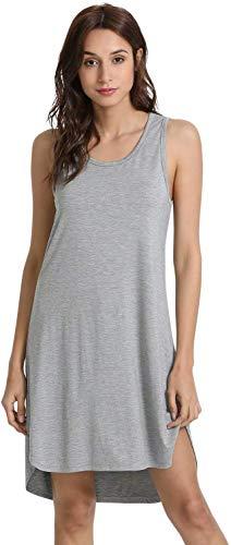 GYS Women's Sleeveless Tank Dress Soft Bamboo Nightgown