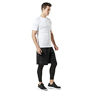 TM-MBS02-BLK_Medium Tesla Men's Cool Mesh Basketball Shorts Smooth HyperDri With Pockets MBS02