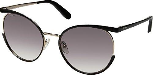 Salvatore Ferragamo Women's SF165SL Black/Gold/Grey Gradient One - Sunglasses Salvatore Ferragamo